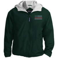 Thin Red Line Embroidered Hooded Jacket Jackets Hunter Green/Light Oxford X-Small