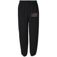 Thin Red Line Fleece Embroidered Sweatpants Pants Black S