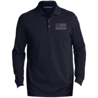 Thin Red Line Long-Sleeve Polo Polo Shirts Navy X-Small