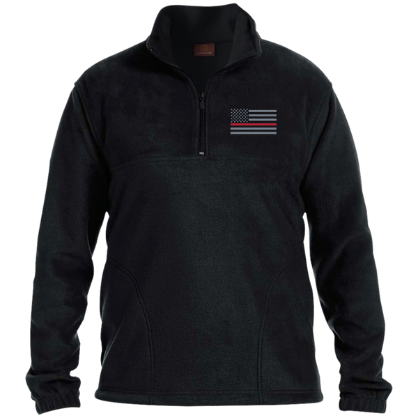 Thin Red line Men's Fleece Pullover Jackets Black S