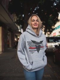 Thin Red Line Super Nurse Flag Hoodie Sweatshirts