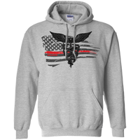 Thin Red Line Super Nurse Flag Hoodie Sweatshirts Sport Grey S