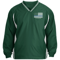 Thin White Line Paramedic Pullover Windshirt Jackets Forest Green/White X-Small