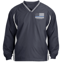 Thin White Line Paramedic Pullover Windshirt Jackets Graphite/White X-Small