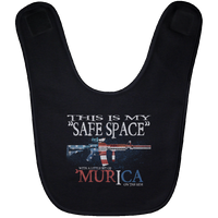 This Is My Safe Space Baby Bib Accessories Black One Size