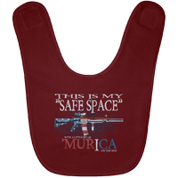 This Is My Safe Space Baby Bib Accessories Maroon One Size