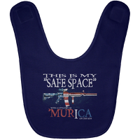 This Is My Safe Space Baby Bib Accessories Navy One Size