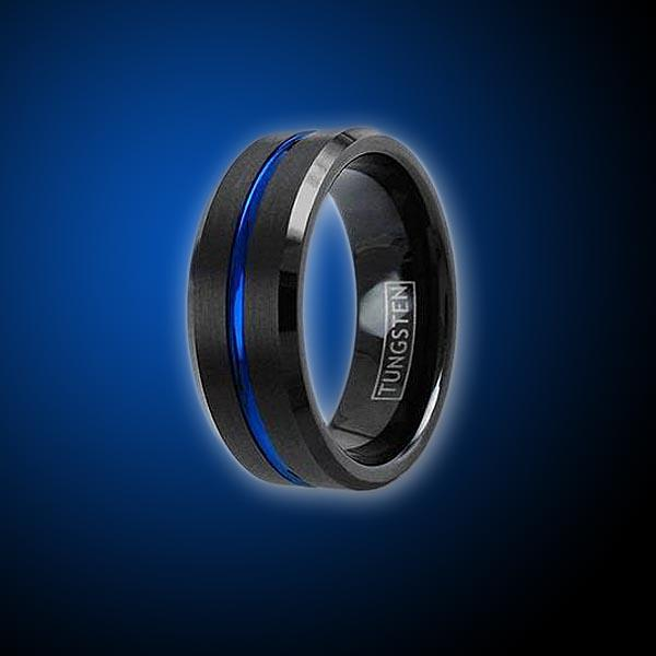 products/tungsten-thin-blue-line-engravable-ring-ring-908007.jpg