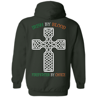 Unisex Double Sided Irish by Blood Firefighter Hoodie Sweatshirts