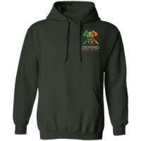 Unisex Double Sided Irish by Blood Firefighter Hoodie Sweatshirts Forest Green S