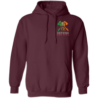 Unisex Double Sided Irish by Blood Firefighter Hoodie Sweatshirts Maroon S