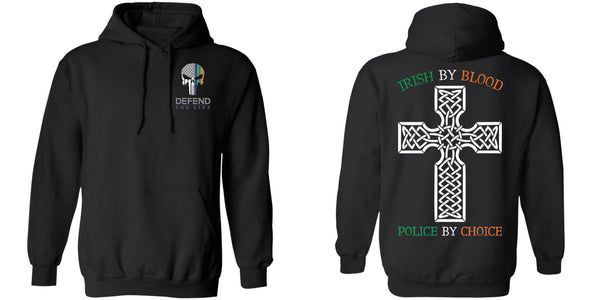 Unisex Double Sided Irish by Blood Punisher Hoodie Sweatshirts
