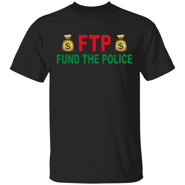 Unisex Fund The Police T-Shirt T-Shirts Black S