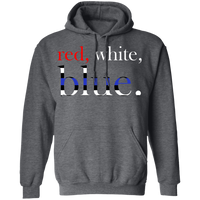Unisex Red, White and Blue Hoodie Sweatshirts Dark Heather S