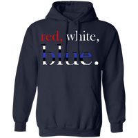 Unisex Red, White and Blue Hoodie Sweatshirts Navy S
