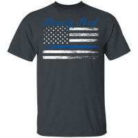 Unisex Thin Blue Line Family First T-Shirt T-Shirts Dark Heather S