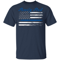 Unisex Thin Blue Line Family First T-Shirt T-Shirts Navy S