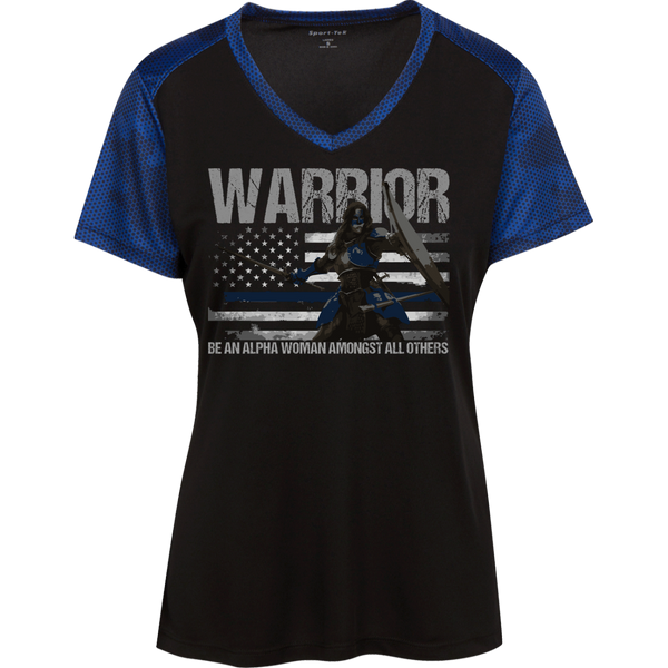 Warrior - Be An Alpha Woman Thin Blue Line Athletic Shirt T-Shirts Black/True Royal X-Small