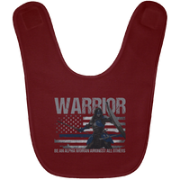 Warrior - Be An Alpha Woman Thin Blue Line Baby Bib Accessories Maroon One Size