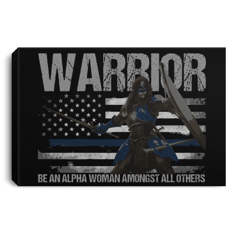 products/warrior-be-an-alpha-woman-thin-blue-line-canvas-housewares-black-18-x-12-230856.png