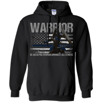 Warrior - Be An Alpha Woman Thin Blue Line Hoodie Sweatshirts Black S