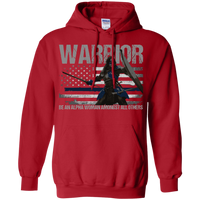 Warrior - Be An Alpha Woman Thin Blue Line Hoodie Sweatshirts Red S
