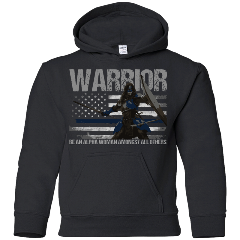 products/warrior-be-an-alpha-woman-thin-blue-line-youth-hoodie-sweatshirts-black-ys-404918.png