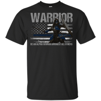 Warrior - Be An Alpha Woman Thin Blue Line Youth T-Shirt T-Shirts Black YXS