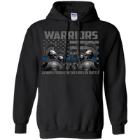 Warriors Always Forged In The Fire Hoodie 8 oz. Sweatshirts CustomCat Black S
