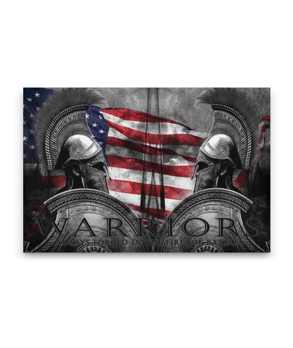 Warriors RWB Spartan Canvas Decor ViralStyle Premium OS Canvas - Landscape 18x12*