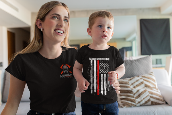 We Fight What You Fear Firefighter Thin Red Line Youth Unisex T-Shirt T-Shirts