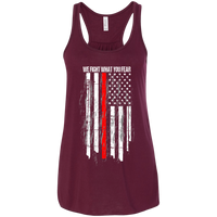 We Fight What You Fear Racerback Tank T-Shirts Maroon X-Small