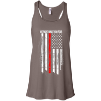 We Fight What You Fear Racerback Tank T-Shirts Pebble Brown X-Small