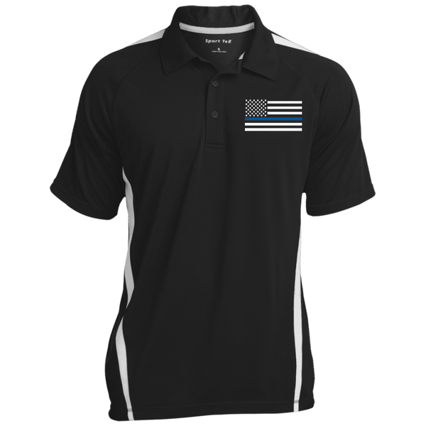 White Ops Thin Blue Line Polo Polo Shirts Black/White X-Small