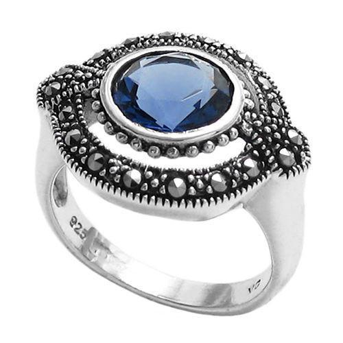 Women's Cobalt of Courage Sterling Silver Ring Ring 9 No