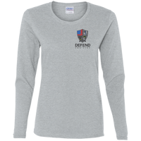 Women's Defend The Line Long Sleeve T-Shirt T-Shirts Sport Grey S