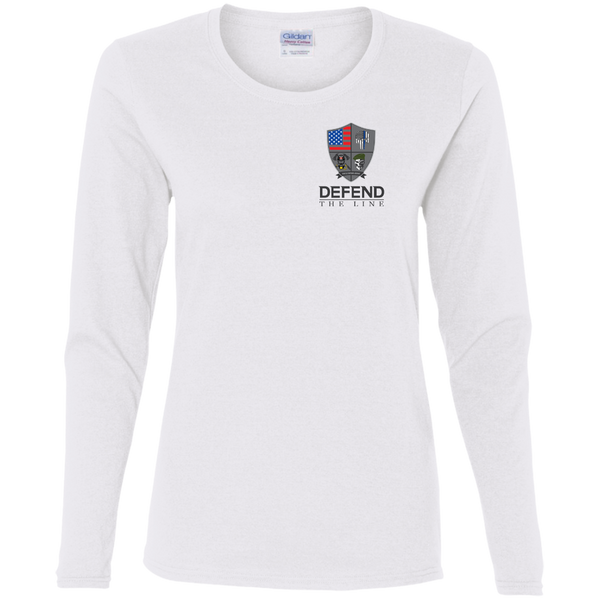 Women's Defend The Line Long Sleeve T-Shirt T-Shirts White S