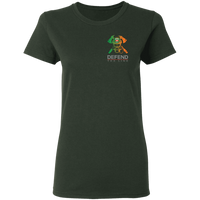 Women's Double Sided Irish by Blood Firefighter T-Shirt T-Shirts Forest Green S