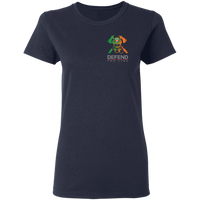 Women's Double Sided Irish by Blood Firefighter T-Shirt T-Shirts Navy S