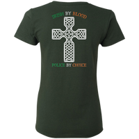 Women's Double Sided Irish by Blood Punisher T-Shirt T-Shirts