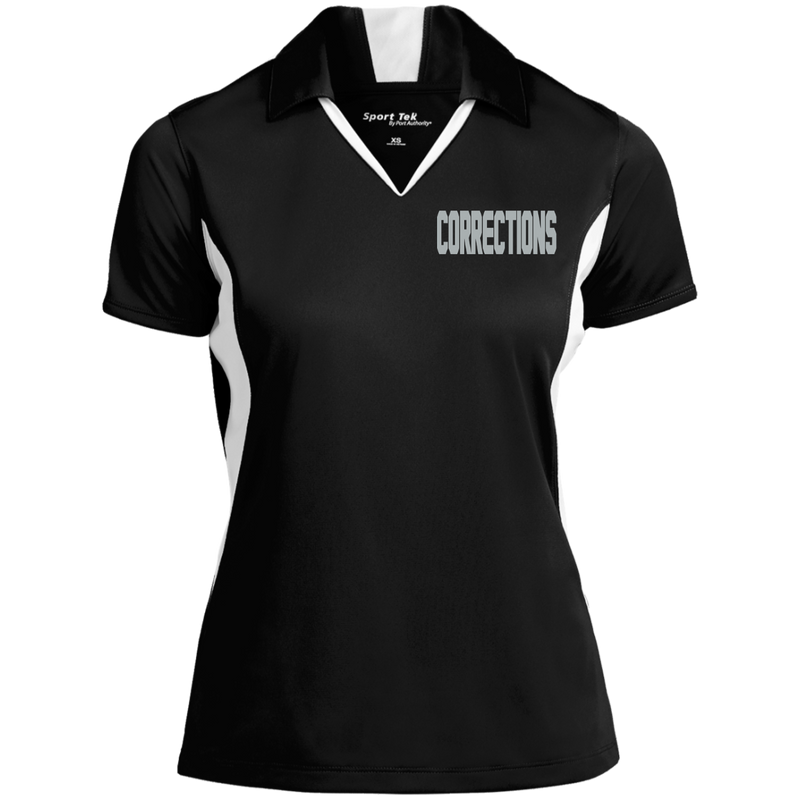 products/womens-embroidered-corrections-colorblock-performance-polo-polo-shirts-blackwhite-x-small-994026.png