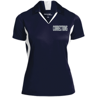 Women's Embroidered Corrections Colorblock Performance Polo Polo Shirts True Navy/White X-Small
