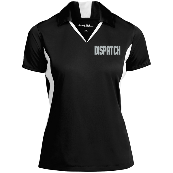 Women's Embroidered Dipatch Colorblock Performance Polo Polo Shirts Black/White X-Small