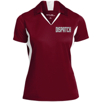 Women's Embroidered Dipatch Colorblock Performance Polo Polo Shirts Maroon/White X-Small