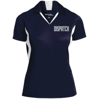 Women's Embroidered Dipatch Colorblock Performance Polo Polo Shirts True Navy/White X-Small