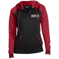 Women's Embroidered Dispatch Full-Zip Hooded Jacket Jackets Black/Deep Red X-Small