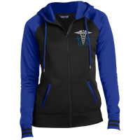 Women's Embroidered RN Full-Zip Hooded Jacket Jackets Black/True Royal X-Small