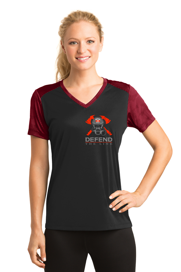 Women's Firefighter Skull Mask Athletic Shirt T-Shirts