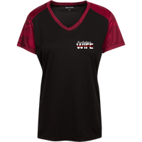 Women's Firefighter Wife Athletic Shirt T-Shirts Black/Deep Red X-Small