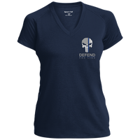 "Women's Punisher Logo ""God Found Strongest Women and Made them Police Officers"" Athletic Shirt T-Shirts CustomCat True Navy X-Small"